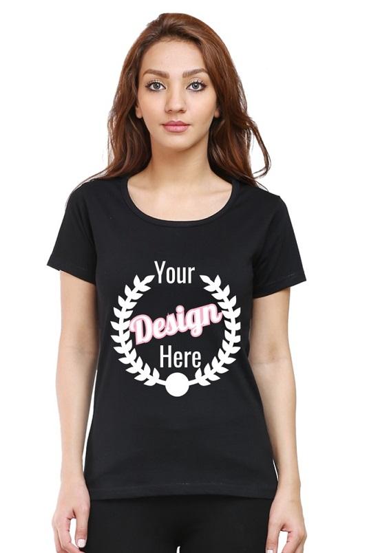 Custom Women's Black T-Shirt