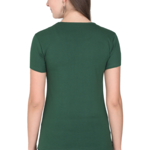Custom Women's Bottle Green T-Shirt 180 GSM
