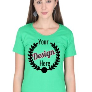 Custom Women's Flag Green T-Shirt