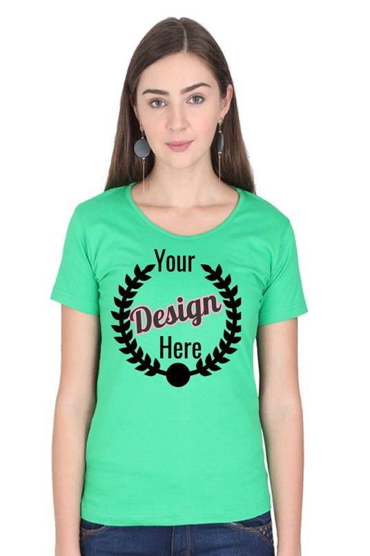Custom Women's Flag Green T-Shirt
