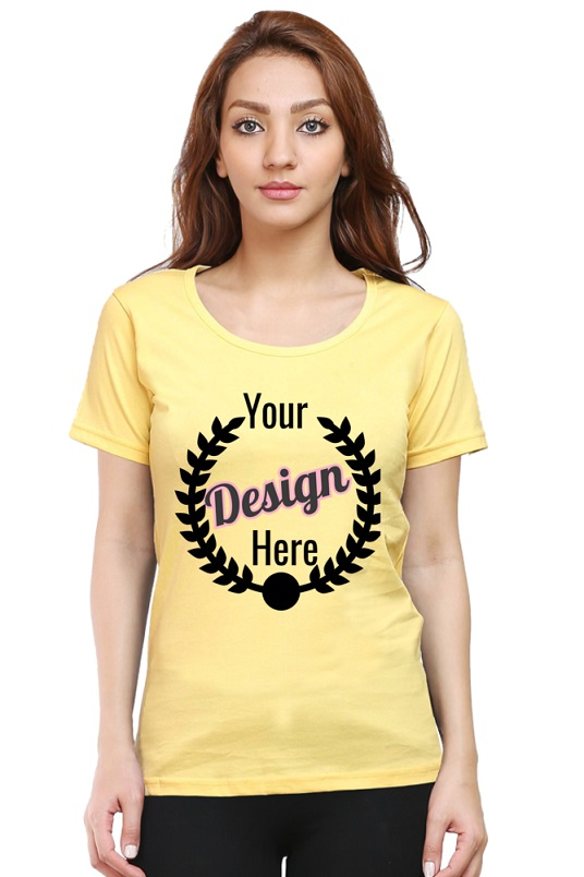 Custom Women's Golden Yellow T-Shirt