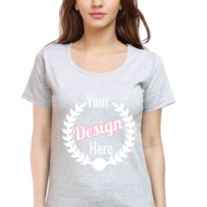 Custom Women's Grey T-Shirt