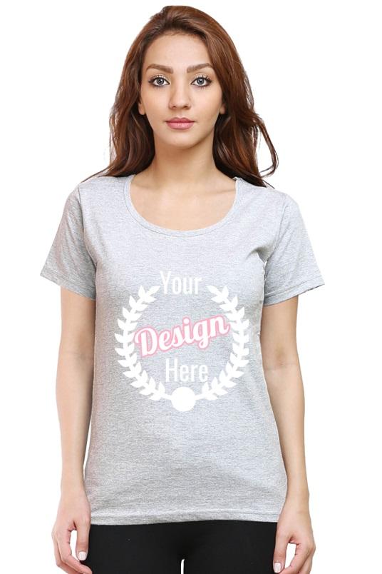 Custom Women's Grey T-Shirt
