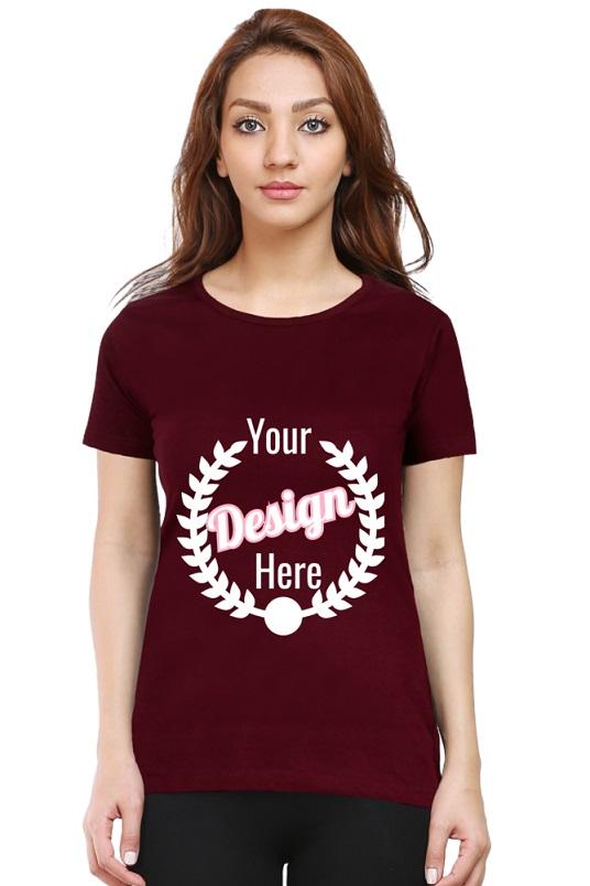 Custom Women's Maroon T-Shirt