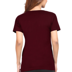 Custom Women's Maroon T-Shirt 180 GSM