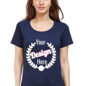 Custom Women's Navy Blue T-Shirt