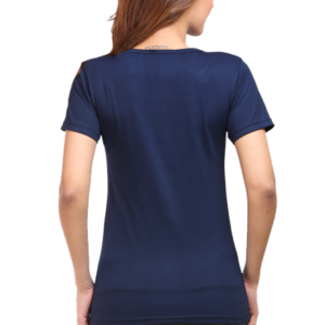 Custom Women's Navy Blue T-Shirt 180 GSM
