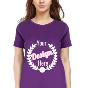 Custom Women's Purple T-Shirt