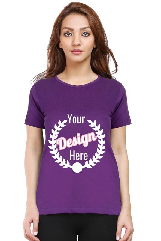 Custom Women's Purple T-Shirt