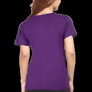 Custom Women's Purple T-Shirt 180 GSM