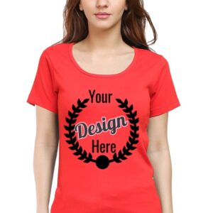 Custom Women's Red T-Shirt