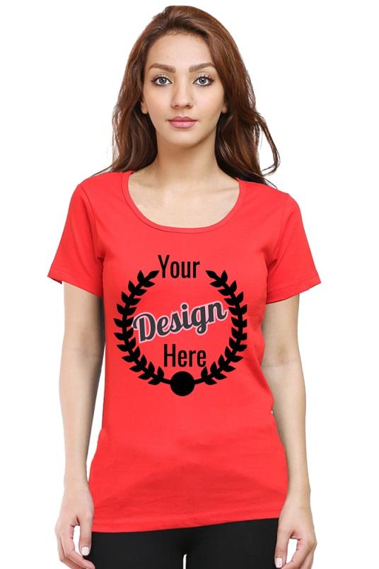 Custom Women's Red T-Shirt