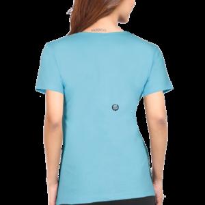 Custom Women's Sky Blue T-Shirt 180 GSM