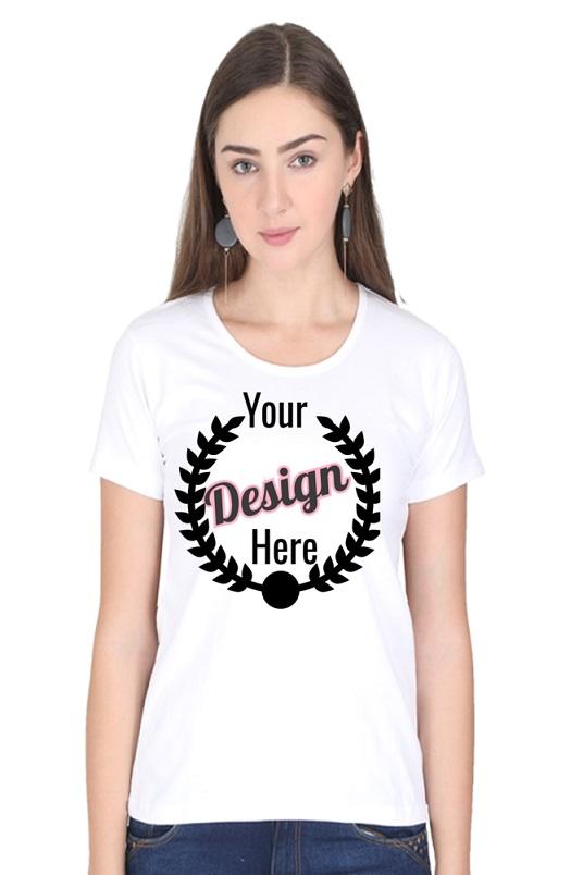 Custom Women's White T-Shirt
