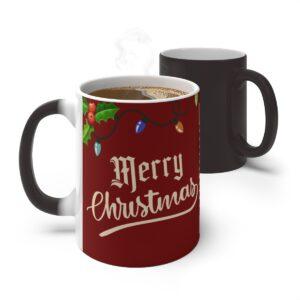 Personalised Christmas Coffee Mug One Photo